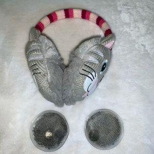 Click & Heat Cozy Ears Ear Muffs Plush Kitten Cat
